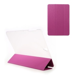 Samsung Galaxy Tab S3 tri-fold läderfodral - Varm rosa