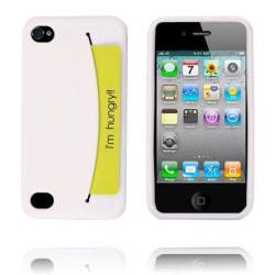 Smile Credit Card Holder (Vit) iPhone 4/4S Silikonskal