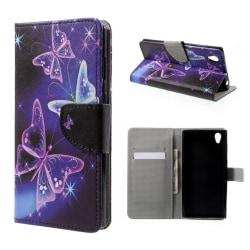 Sony Xperia L1 folio PU läderfodral - Fluoresc