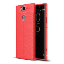 Sony Xperia XA2 Plus mobilskal silikon litchi - Röd