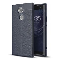 Sony Xperia XA2 Ultra Läckert silikon skal - Mörk blå