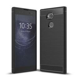Sony Xperia XA2 Ultra Skal med karbonfiber stil - Svart