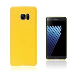Sund Flexibelt Skal för Samsung Galaxy Note 7 - Gul