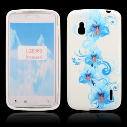 Symphony (Blå Blommor) Google Nexus 4 Skal