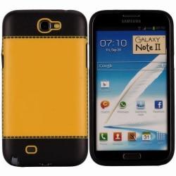TailorMade Svart (Gul) Samsung Galaxy Note 2 Skal