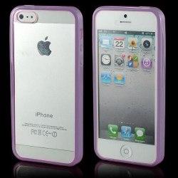 Transparent Back (Ljuslila) iPhone 5 / 5S Bumper
