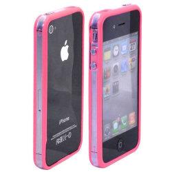 Transparent Color Edge Bumper (Rosa - Klar Kant) iPhone 4S-B