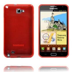 Transparent TPU Shell (Röd) Samsung Galaxy Note Skal