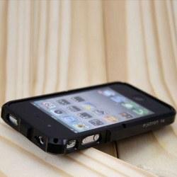 TRON S4 (Svart) iPhone 4 Aluminium-Bumper