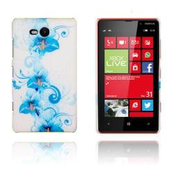 Valentine (Blå Blommor) Nokia Lumia 820 Skal