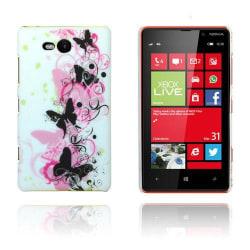 Valentine (Rosa & Svarta Fjärilar) Nokia Lumia 820 Skal