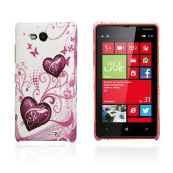Valentine (Vit - Purpurhjärtan) Nokia Lumia 820 Skal