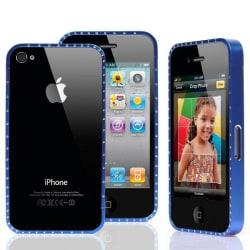 Victoria Diamonds (Blå) Bling iPhone 4/4S Aluminium-Bumper
