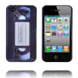 Video Cassette iPhone 4 Skal (Svart)