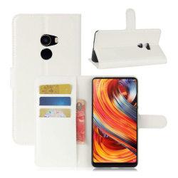 Xiaomi Mi Mix 2 Stilrent skinn fodral - Vit