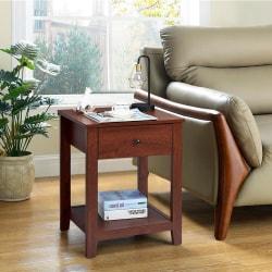 Soffbord i trä med sovrumslåda