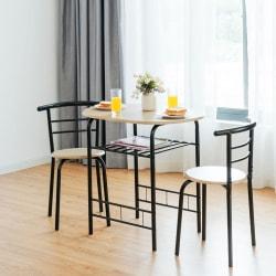 Matbord med 2 stolar - Naturlig