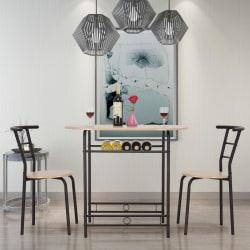 Matsal möbler i trä med 2 stolar