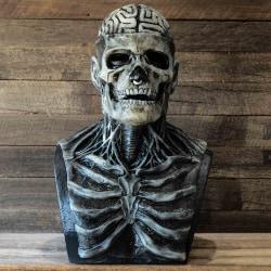 Halloween Cosplay Full Head Skull Mask Skeleton Latex huvudbonader grey