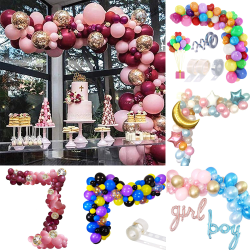 102st Balloon Arch Kit Set Garland Birthday Wedding Baby Shower Wine Red