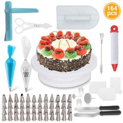 164PCS DIY Cake Turntable Set Baking Cream Decoration Tool