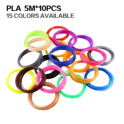 3D Print Pen Filament High Temperature PLA 1.75mm 5 Meter 5 meter / color * 10 colors