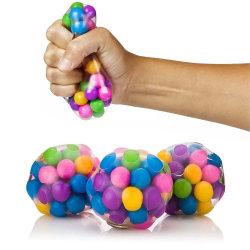 1st Rainbow Bead Fidget Ball Game Kid Vuxenleksaker Nytt 1pcs