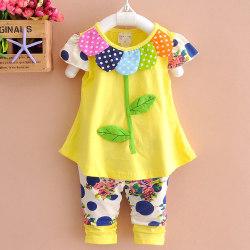 2st Barn Flickor Kläder Sommar Bomull Outfits Topp Korta Byxor Yellow 18-24 M