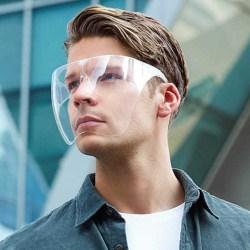 Transparent klart skyddande visir Munstycke av plast M