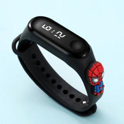 Barn tecknad elektronisk klocka Smart Watch armband armband black