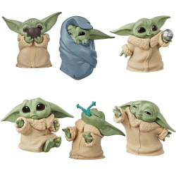 6st Star Wars Model Baby Yoda Barn Figur Kid Leksaker Gåva 6pcs