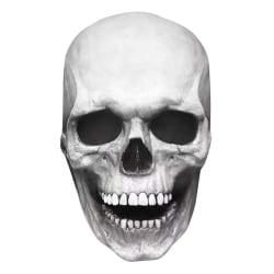 Halloween Vuxen Latex Mask 3D Full Head Skeleton Mask Skull light color