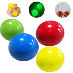 8st Fidget Toy Squeeze Magic Ball Glowing Stressboll Toy 6cm 6cm Random Color 8PCS