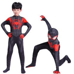 Kids Marvel Superhero Spiderman 3d-tryckt Cosplay-kostym As pics M