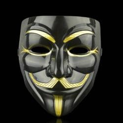 Anonym Mask Hacker V For Vendetta Game Master Party Cosplay Black + eyeliner