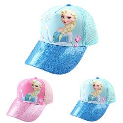 Baby Girl Princess Cartoon Frozen Hat Baseball Justerbar sommar #1 Adjustable