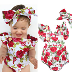 Baby Girl's Hot Sale Ruffle Bowknot Jumpsuit Light pink 80 cm