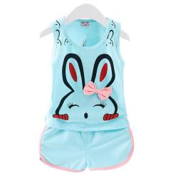 Babyflickor Kläder Sommar Top Vest Kortbyxor Barnflickor