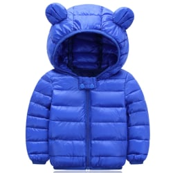 Baby Kids Pojkar Flicka Hooded Jacka Coats Zip Snowsuit Ytterkläder Royal blue 90cm