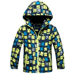 Barn Pojkar Hoodie Rock Barn Höst Casual Jacka Outwear Fluorescent green 120cm