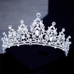 Bling Bridal Tiara Crystal Födelsedag Bröllop Kronprinsessa Kvinnor
