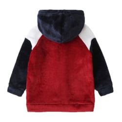 Barn Flicka Barn Långärmad Vinter Warm Casual Jacke Outwear Red 6 - 7 Years
