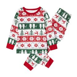 Julfamilj Matchande unge Pappa Mamma Baby Loungewear Pyjamas Mom M