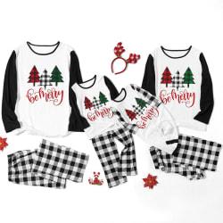 Christmas Xmas Kids Womens Men Color Family Sleepwear Suit Set kid 90 cm