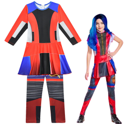 Descendants 3 Evie Kids Girls Party Party Cosplay-kostymer 140cm