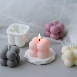 3D silikon kub ljus modell dekorationer kan tillverkas te vax mögel Single hole four balls