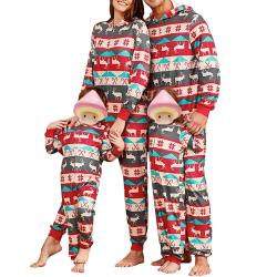Familj Matchande julpyjamas Vuxna barn Baby Xmas Nattkläder kid  7-8T