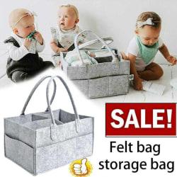 Filt Förvaring Nappy Nursery Organizer Basket Spädbarnsblöja Grey