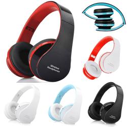 Vikbara trådlösa Bluetooth-hörlurar med hörlurar white