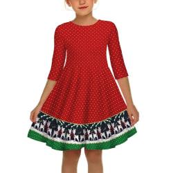 Flicka julfestival klänning unge söt halv red M